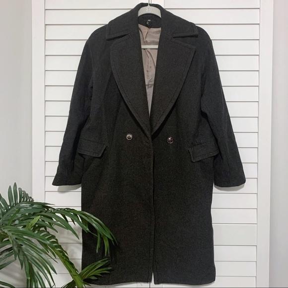 🍁Fall🍁 Oversized Grey Wool Pea Coat